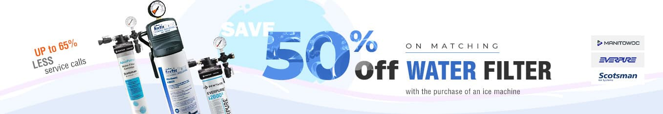 Save 50% off on matching water filters