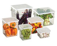 Square Storage Containers and Lids