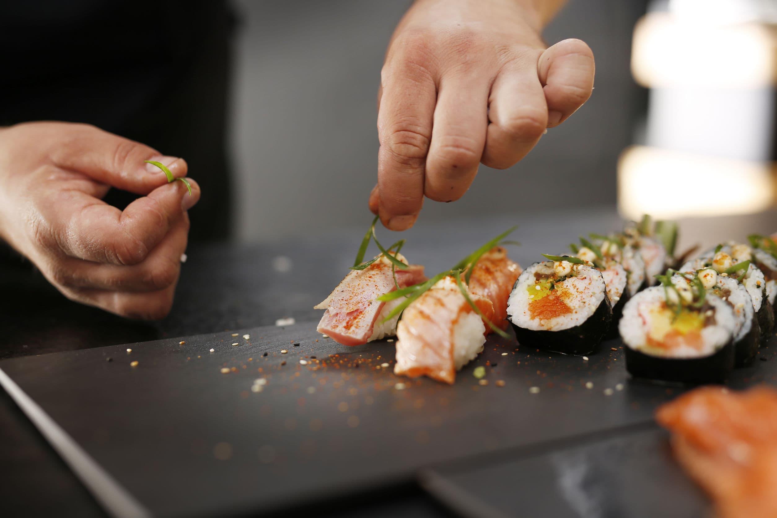 Sushi Restaurants Can Display New Menu Items