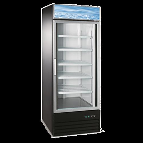 Admiral Craft USRFS-1D/B 28'' Black 1 Section Swing Refrigerated Glass Door Merchandiser