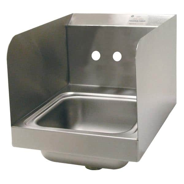 "Advance Tabco 7-PS-23-ECSPNF-1X Special Value Hand Sink with 7-3/4"" side splashes"