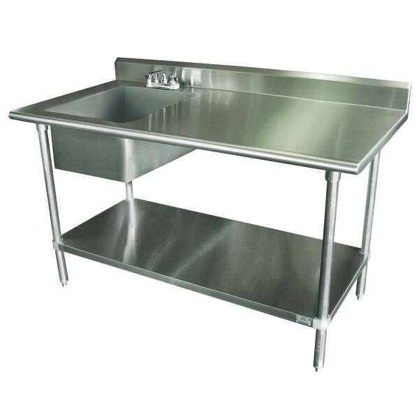 Advance Tabco KLAG-11B-305L-X Work Table Sink