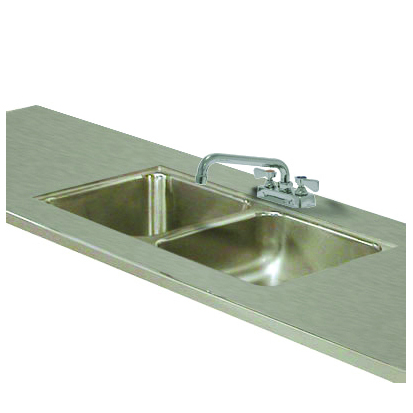 Advance Tabco TA-11Q-2 Double Sink Welded Into Table Top