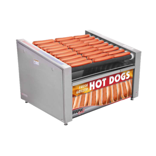 APW Wyott HR-50SBW X*PERT HotRod® Hot Dog Grill with Bun Warmer