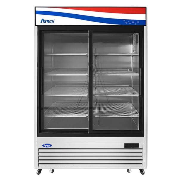 Atosa USA Atosa USA MCF8709GR 54.38'' 2 Section Refrigerated Glass Door Merchandiser