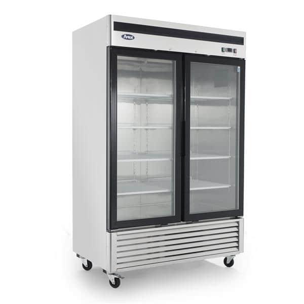 Atosa USA Atosa USA MCF8703GR 54.40'' 44.8 cu. ft. 2 Section Silver Glass Door Merchandiser Freezer