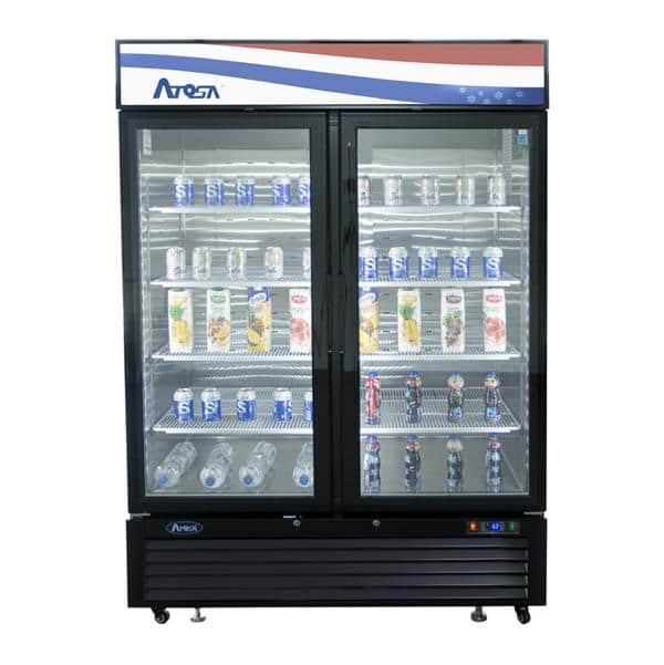 Atosa USA Atosa USA MCF8723GR 54.40'' 2 Section Refrigerated Glass Door Merchandiser