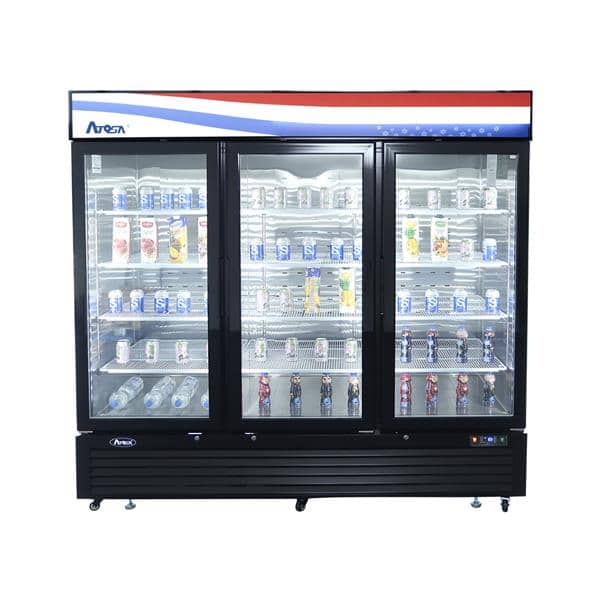 Atosa USA Atosa USA MCF8724GR 81.90'' 3 Section Refrigerated Glass Door Merchandiser