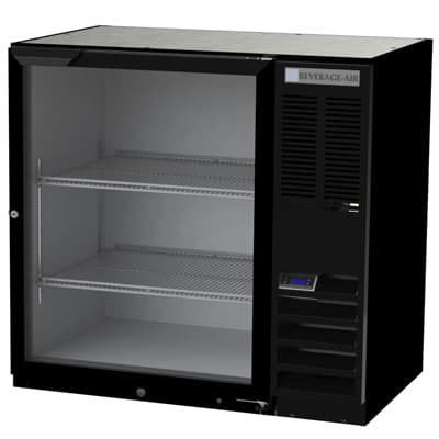 Beverage Air BB36HC-1-G-B Refrigerated Back Bar Storage Cabinet