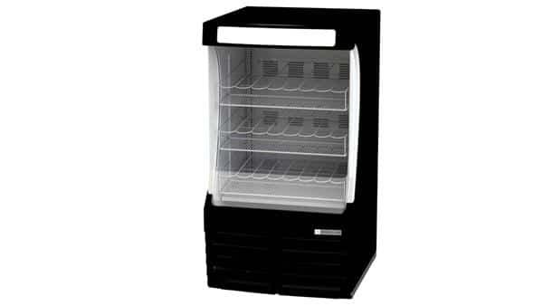 Beverage Air BZ13-1-B 30'' Black Vertical Air Curtain Open Display Merchandiser with 3 Shelves