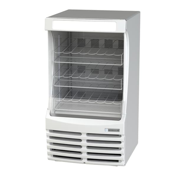 Beverage Air BZ13-1-W 30'' White Vertical Air Curtain Open Display Merchandiser with 3 Shelves