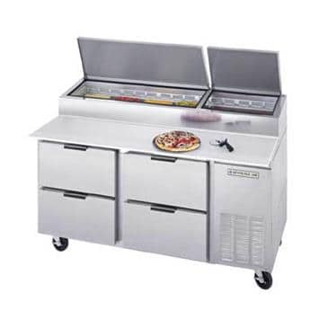 Beverage Air DPD67-4 Pizza Top Refrigerated Counter