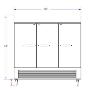 Beverage Air HBR72-1-G-LED-WINE Horizon Series Wine Refrigerator