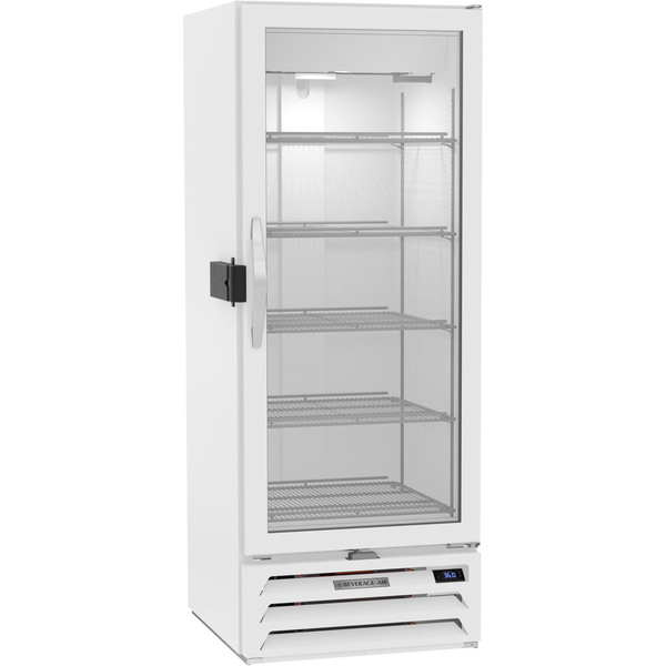 Beverage Air MMR12HC-1-W-IQ 25.38'' White 1 Section Swing Refrigerated Glass Door Merchandiser