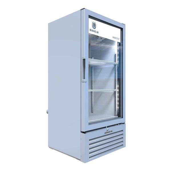 Beverage Air MT10-1W 24.88'' White 1 Section Swing Refrigerated Glass Door Merchandiser