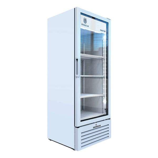 Beverage Air MT12-1W 24.88'' White 1 Section Swing Refrigerated Glass Door Merchandiser