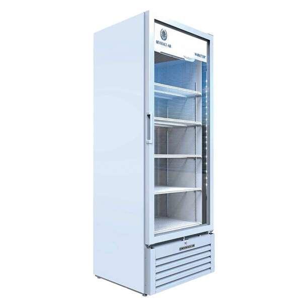 Beverage Air MT23-1W 29.56'' White 1 Section Swing Refrigerated Glass Door Merchandiser