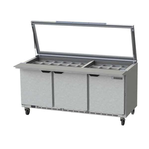 Beverage Air SPE72HC-30M-STL Elite Series™ Mega Top Refrigerated Counter
