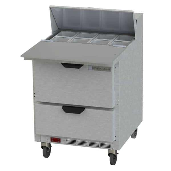 Beverage Air SPED27HC-C-B Elite Series™ Sandwich Top Refrigerated Counter