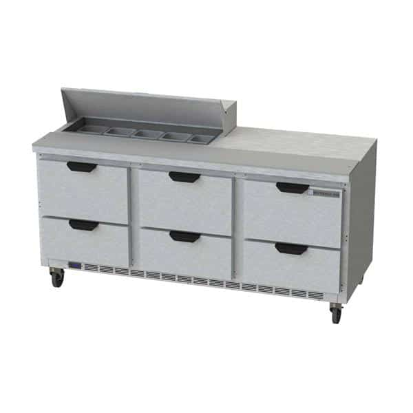 Beverage Air SPED72HC-10-6 Elite Series™ Sandwich Top Refrigerated Counter