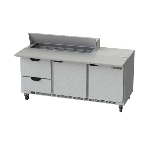 Beverage Air SPED72HC-12C-2 Elite Series™ Sandwich Top Refrigerated Counter