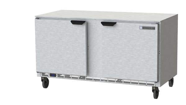 Beverage Air UCF60AHC 60'' 2 Section Undercounter Freezer with 2 Left/Right Hinged Solid Doors and Front Breathing Compressor