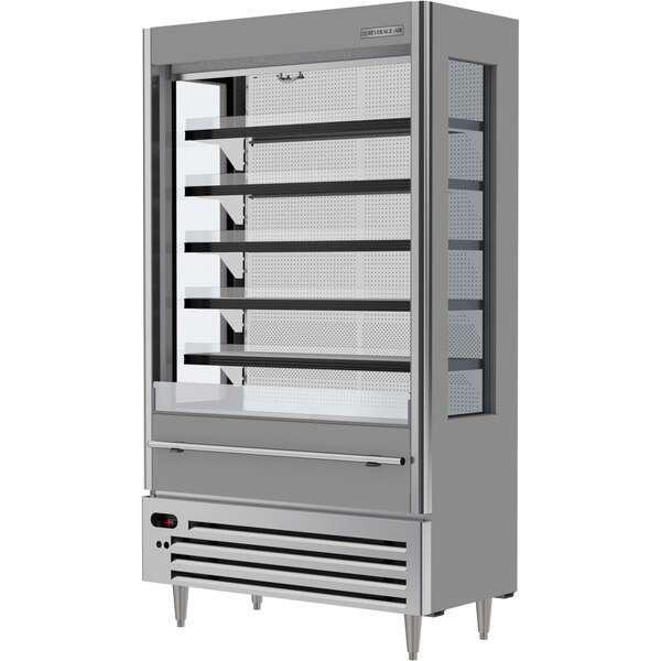 Beverage Air VMHCSL-18-1-G 47.44'' Gray Vertical Air Curtain Open Display Merchandiser with 5 Shelves