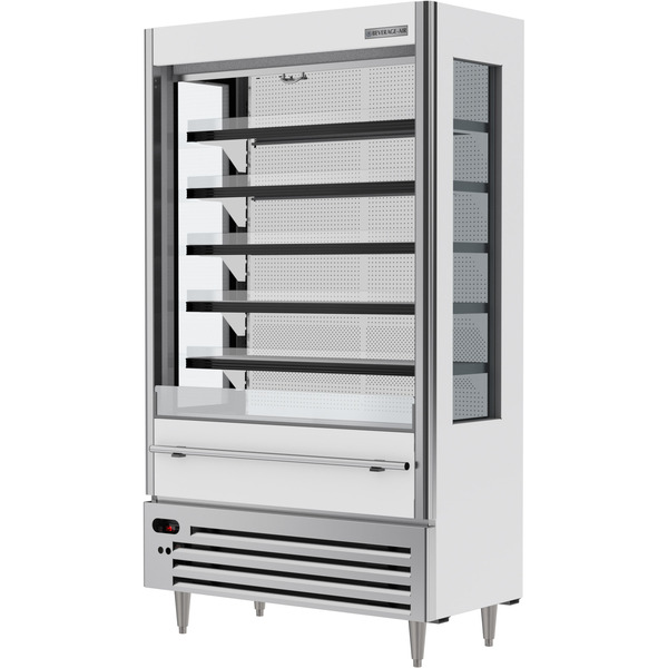 Beverage Air VMHCSL-18-1-W 47.44'' White Vertical Air Curtain Open Display Merchandiser with 5 Shelves