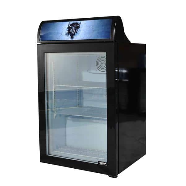 Bison Refrigeration BFM-4 4.0 cu. ft. 1/4 HP Countertop Glass Door Freezer