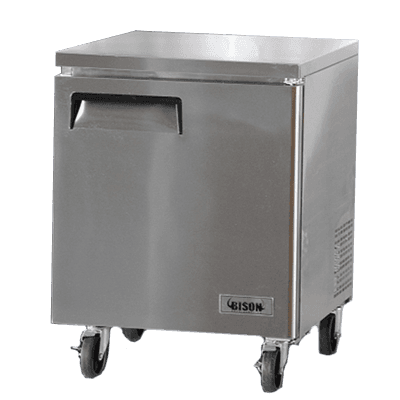 Bison Refrigeration BUF-27 27.5'' 1 Section Undercounter Freezer with 1 Right Hinged Solid Door and Side / Rear Breathing Compressor