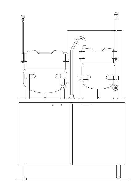 Blodgett Steam CB42G-10-6K Kettle/Stand Assembly