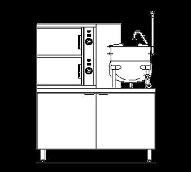 Blodgett Steam SB-6G-6K Combination Steamer