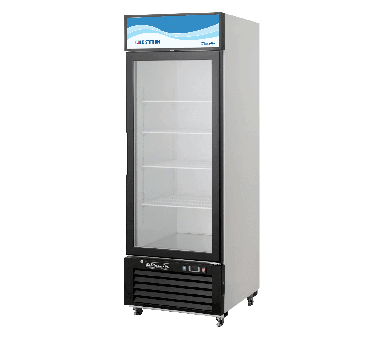 Blue Air BKGM23 27'' Black 1 Section Sliding Refrigerated Glass Door Merchandiser
