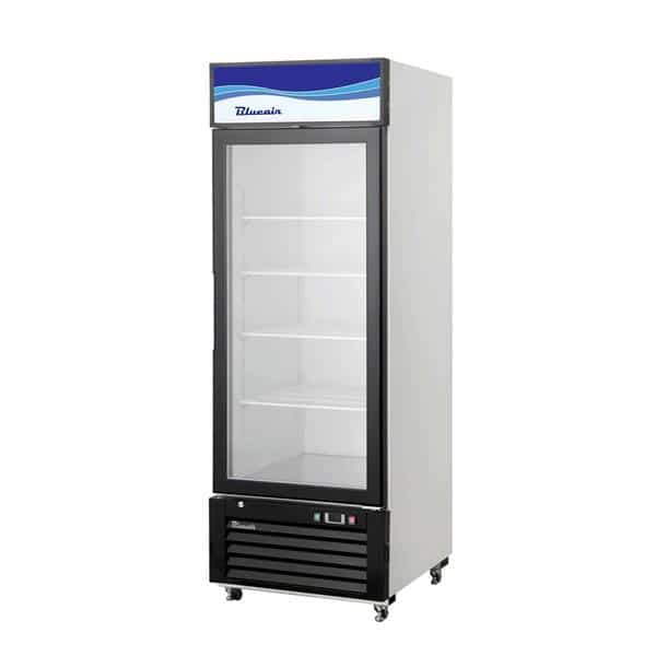 Blue Air BKGM12-HC 24.25'' Black 1 Section Sliding Refrigerated Glass Door Merchandiser