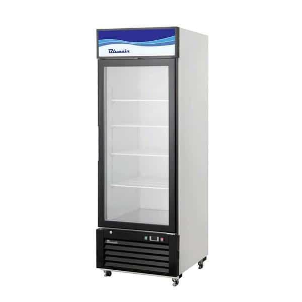 Blue Air BKGM14-HC 24.25'' Black 1 Section Sliding Refrigerated Glass Door Merchandiser