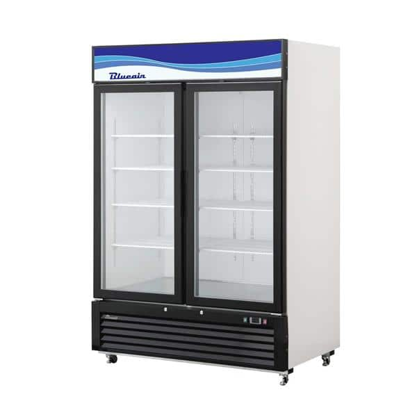 Blue Air BKGM49-HC 54.38'' Black 2 Section Swing Refrigerated Glass Door Merchandiser