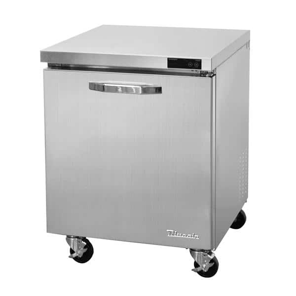 Blue Air BLUF28-HC 27.5'' 1 Section Undercounter Freezer with 1 Right Hinged Solid Door and Side / Rear Breathing Compressor
