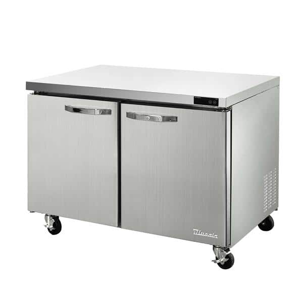 Blue Air BLUF60-HC 60.38'' 2 Section Undercounter Freezer with 2 Left/Right Hinged Solid Doors and Side / Rear Breathing Compressor