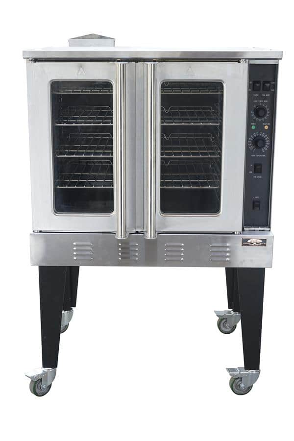 Copper Beech CBCO-G Single Deck Half Size Gas Convection Oven with Dials / Buttons Contols, 120 Volts