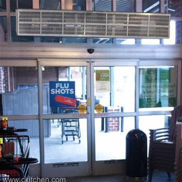 Curtron Products Products E-CFD-42-1-EH Heated Efficient Commercial Front Door Air