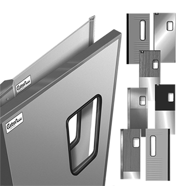 Curtron Products Products SPCD-70-DBL-3048 Service-Pro® Cafe Series 70 Double Swinging Door