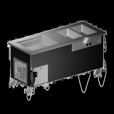 Delfield KH2CR-74-B Shelleyglas® Combination Hot/Cold Serving Counter