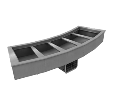 Delfield N8176-BR Drop-In Curved Mechanically Cooled Cold Pan