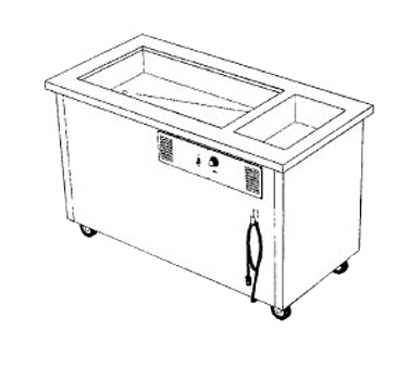 Delfield SHC-50-NU Shelleysteel™ Combination Hot/Cold Serving