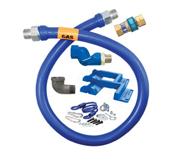 Dormont Manufacturing Manufacturing 16100BPQSR48PS Dormont Blue Hose™ Moveable Gas Connector Hose