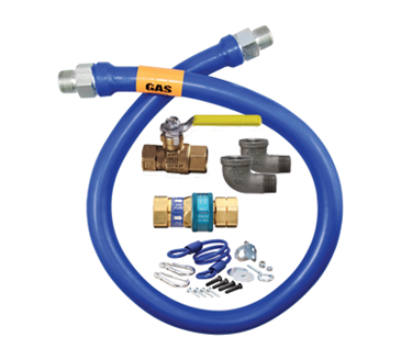 Dormont Manufacturing Manufacturing 16100KIT72 Dormont Blue Hose™ Moveable Gas Connector Kit