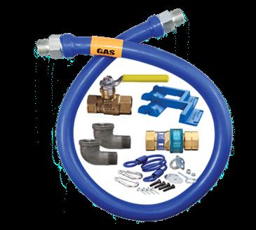 Dormont Manufacturing Manufacturing 16100KIT72PS Dormont Blue Hose™ Moveable Gas Connector Kit
