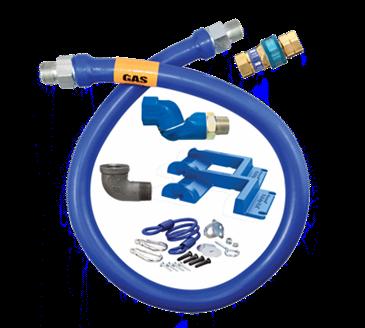 Dormont Manufacturing Manufacturing 1650BPQSR48PS Dormont Blue Hose™ Moveable Gas Connector Hose