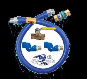 Dormont Manufacturing Manufacturing 1650KIT2S60 Dormont Blue Hose™ Moveable Gas Connector Kit