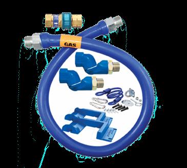 Dormont Manufacturing Manufacturing 1675BPQ2SR48PS Dormont Blue Hose™ Moveable Gas Connector Hose